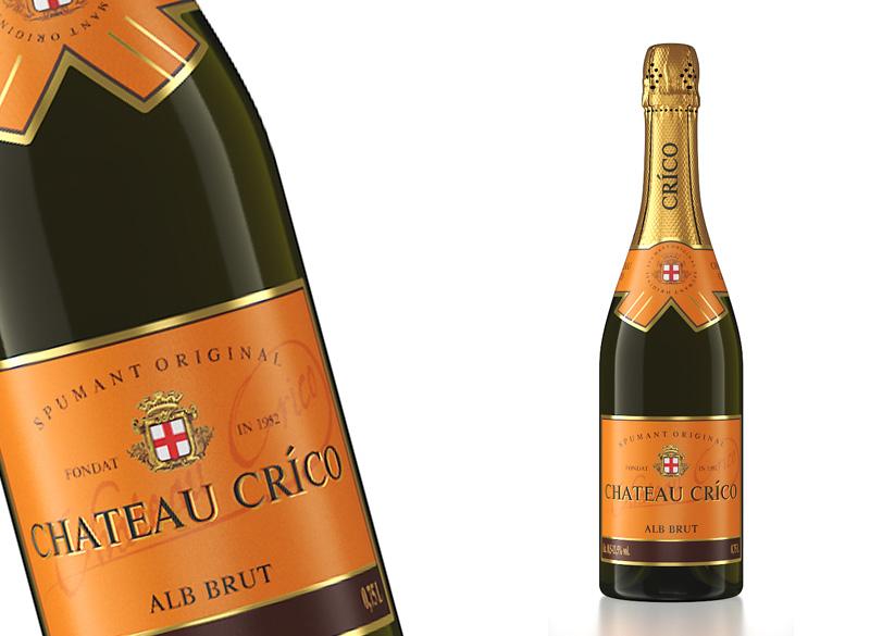 Вино игристое белое брют «CHATEAU CRICO»