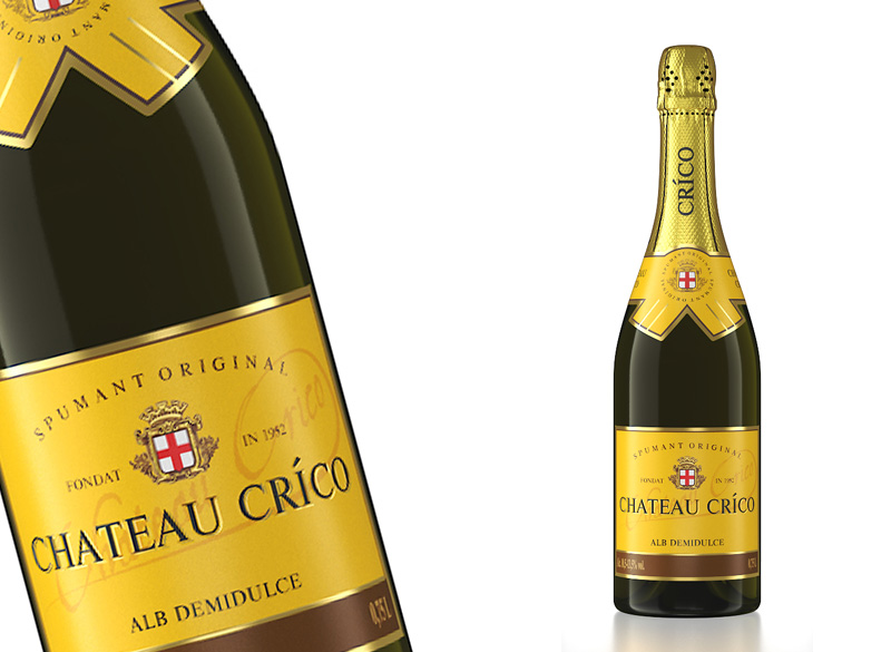 Вино игристое белое полусладкое «CHATEAU CRICO»