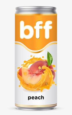 «BFF» peach