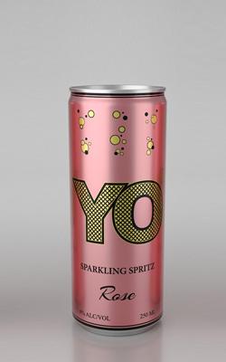 «YO» Напиток винный газированный розовый